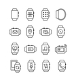 Set of smart watch icons Smartwatches vector image