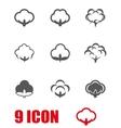grey cotton icon set vector image
