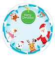 Christmas Ornaments On Circle Frame vector image