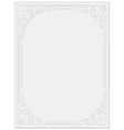Decorative floral frame vector image