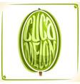 logo for cucamelon vector image