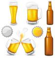 Set of beer vector image