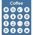 Set of coffee simple icons vector image