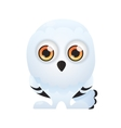 White Owl on a white background vector image