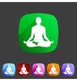Yoga asana icon flat web sign symbol logo label vector image