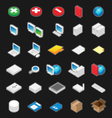 Perspective Icons Vector Image