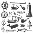 Nautical Icon Set vector image