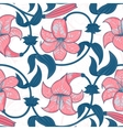 seamless pattern with lily flowers on white vector image vector image