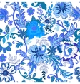 Seamless floral background Colorful blue isolated vector image