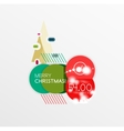 Christmas label or price tag sticker vector image vector image