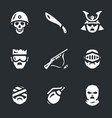 set of horror zombie icons vector image