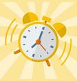 wake up alarm clock flat design vector image