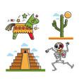 mexican national symbols vector image