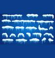 set of snowdrifts vector image