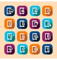 mobile long shadow icons vector image vector image