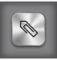 Paper clip icon - metal app button vector image vector image