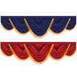 blue and red curtains vector image vector image