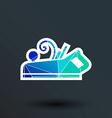 Jointer plane icon button logo symbol concept vector image