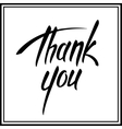 Thank you lettering card vector image