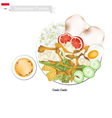 Gado Gado or Indonesian Salad with Peanut Sauce vector image
