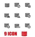 grey database icon set vector image