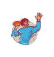 American Football Quarterback Throwing Ball vector image