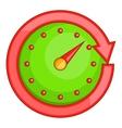 Automobile speedometer icon cartoon style vector image