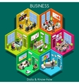 Business 01 Cells Isometric vector image