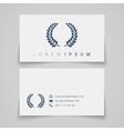 Business card template Laurel concept logo vector image