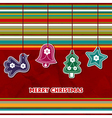 Cristmas card with toys vector image