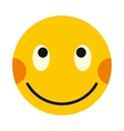 Embarrassing smiley icon flat style vector image