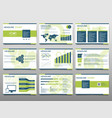 green elements for infographics on a white vector image