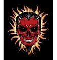 Terrible head of devil vector image