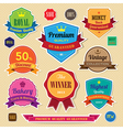 Set of retro vintage sticker badges and labels eps vector image vector image