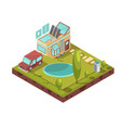 mobile house isometric vector image