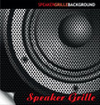 Speaker grille background vector image