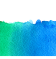 watercolor green and blue background vector image vector image
