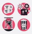 Retro Movie Icon Set vector image