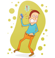 angry on the phone vector image