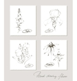 Flower collection of realistic sketches of flowers vector image