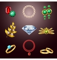 Jewelry realistic icons vector image