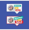 memorial day sale banner vector image