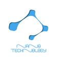 nano technology flat logo design vector image