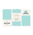 set of cards wedding invitations with vector image