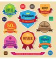 Set of retro vintage sticker badges and labels eps vector image