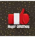 merry christmas greeting card or background vector image
