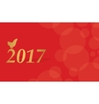 Red greeting card of Chinese New Year vector image