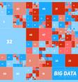 abstract colorful financial big data graph vector image