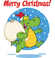 Royalty Free RF Clipart Merry Christmas Greeting vector image vector image