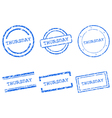 Thursday stamps vector image vector image